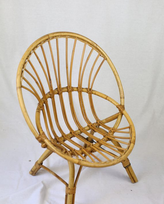 Fauteuil enfant en rotin vintage zwickyfactory for Petits meubles en rotin