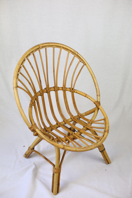 fauteuil enfant en rotin vintage zwickyfactory. Black Bedroom Furniture Sets. Home Design Ideas