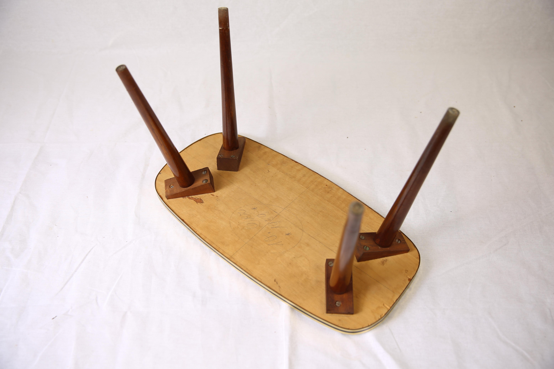 z petite table basse formica pieds compas ann u00e9e 50